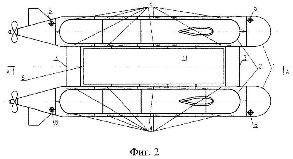 Многоцелевая подводная лодка для осуществления транспортировки, установки, снятия грузов под водой