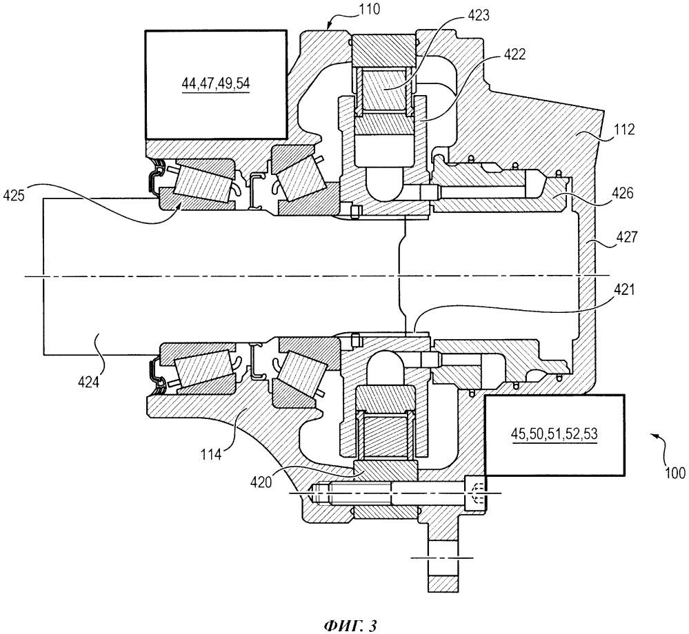 Узел, образующий радиально-поршневую гидравлическую машину с оптимизированным картером
