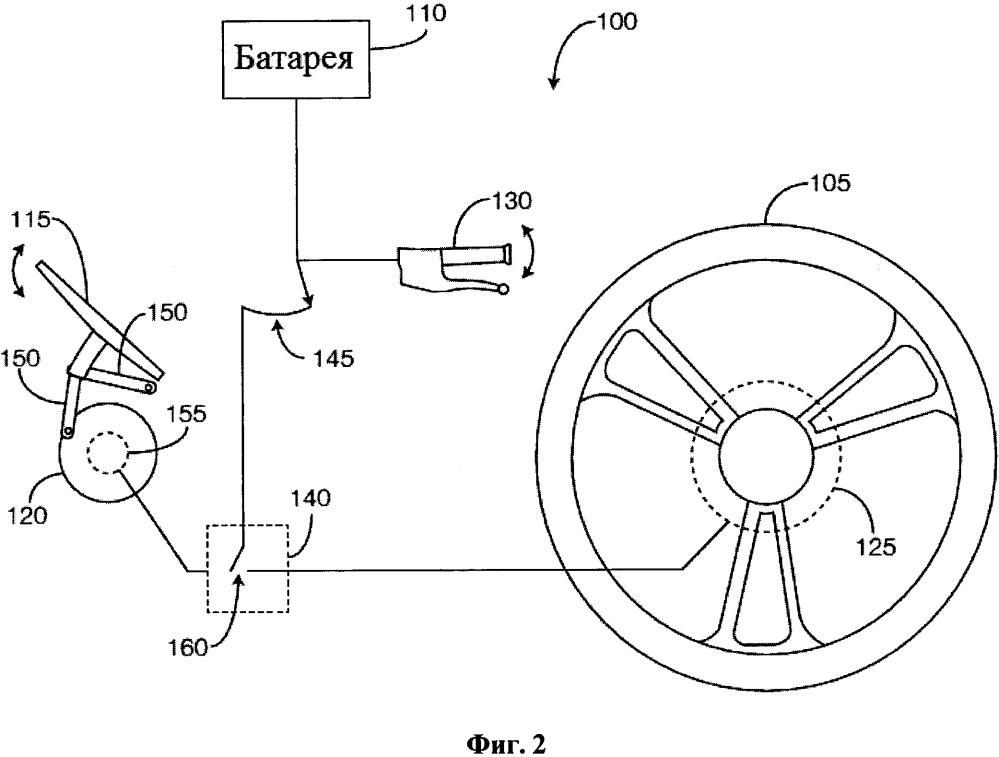 Велосипед с системой управления электрической тягой