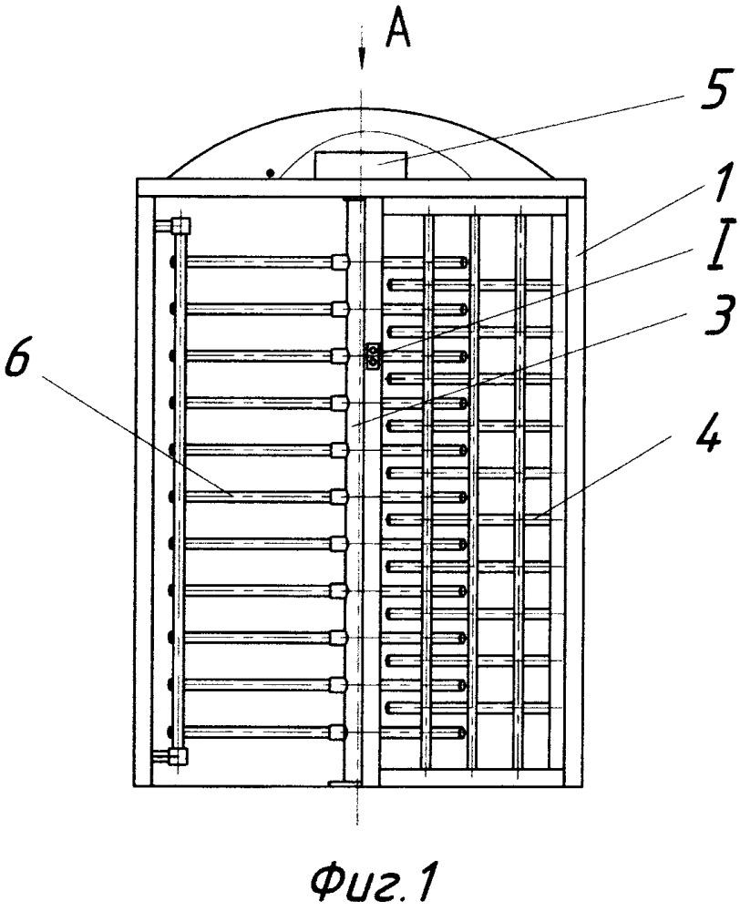 Полноростовой трёхлопастной роторный турникет-шлюз
