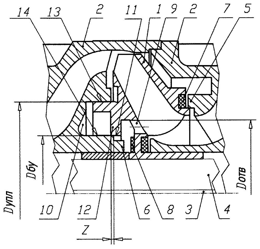 Ступень многоступенчатого погружного центробежного насоса