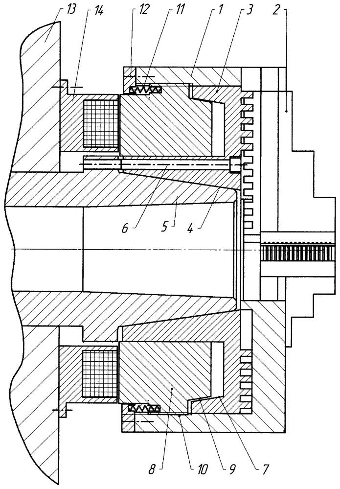 Патрон токарный самоцентрирующий механизированный