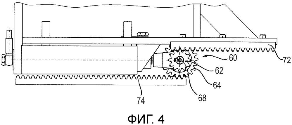 Устройство для линейного перемещения опорной поверхности для пациента с помощью гидравлического цилиндра и зубчатой системы