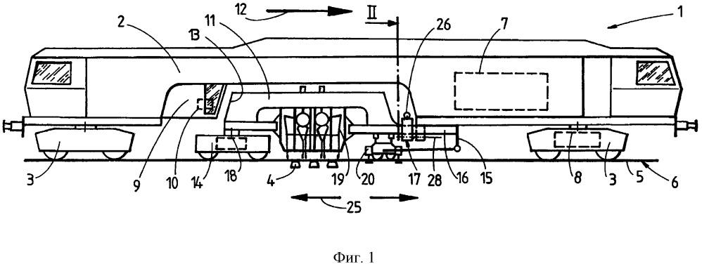 Шпалоподбивочная машина с поворотной рабочей рамой
