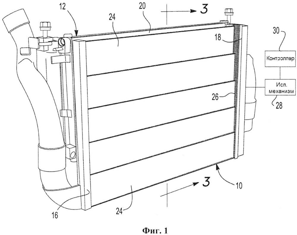 Устройство контроля воздушного потока через радиатор
