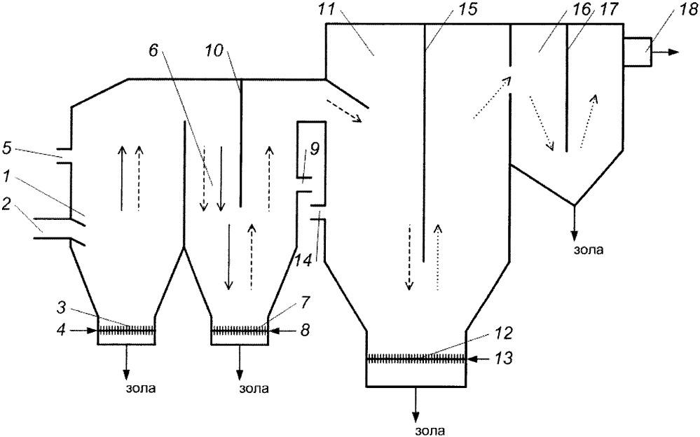 Устройство для сжигания в кипящем слое высокозольного топлива