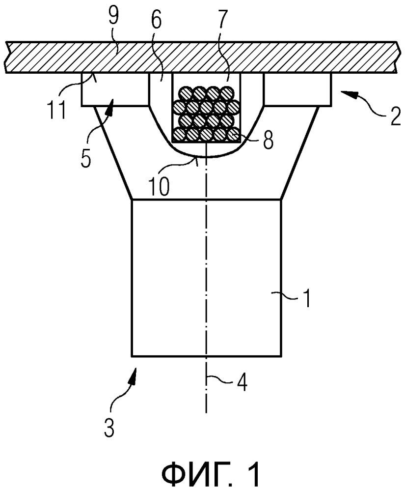 Соединительный элемент для вращающегося соединения кузова вагона с тележкой рельсового транспортного средства