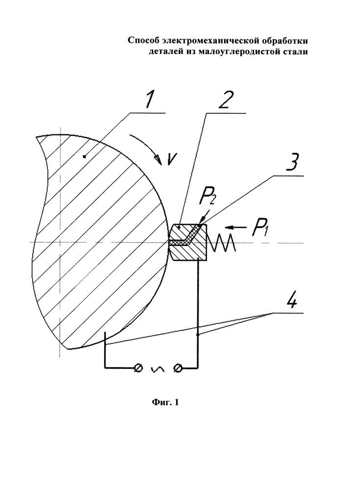 Способ электромеханической обработки поверхности детали из малоуглеродистой стали