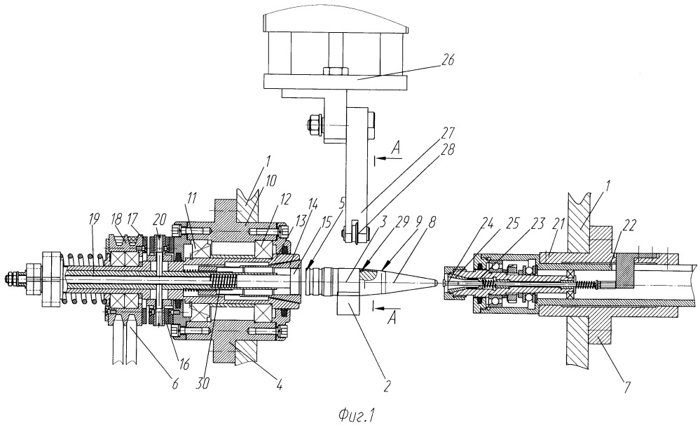 Установка для запрессовки и закатки баллистического наконечника на снаряде