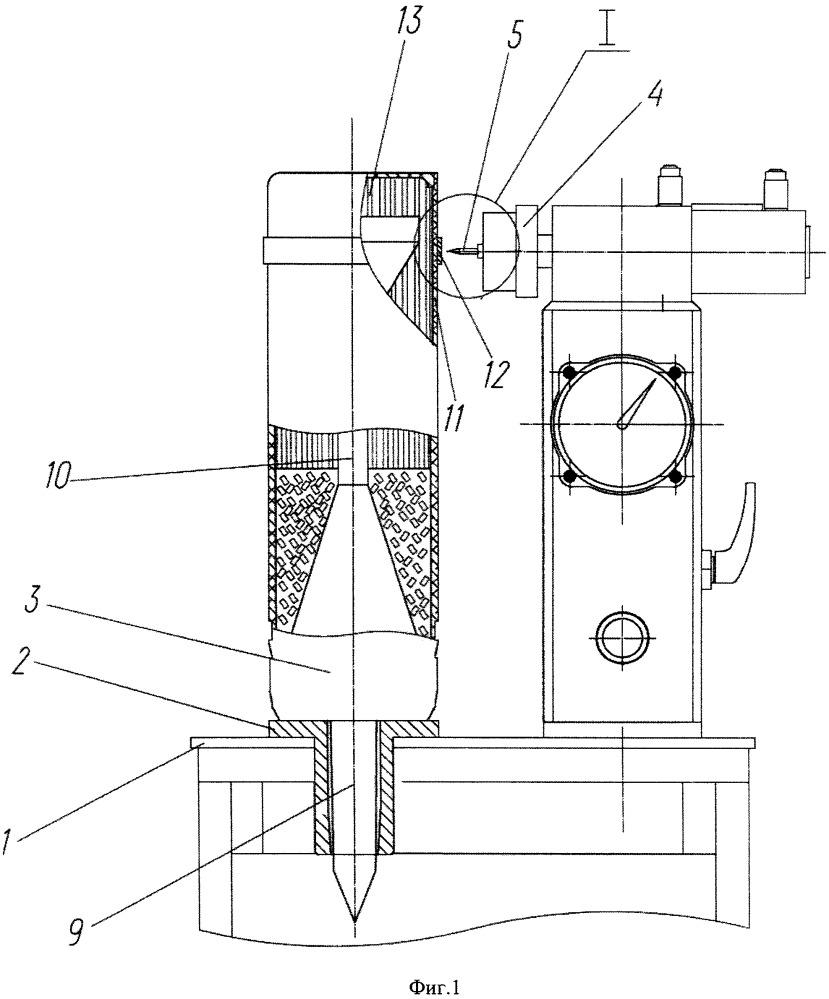 Установка прокалывания сгорающей оболочки выстрела для определения негерметичных мест заряда