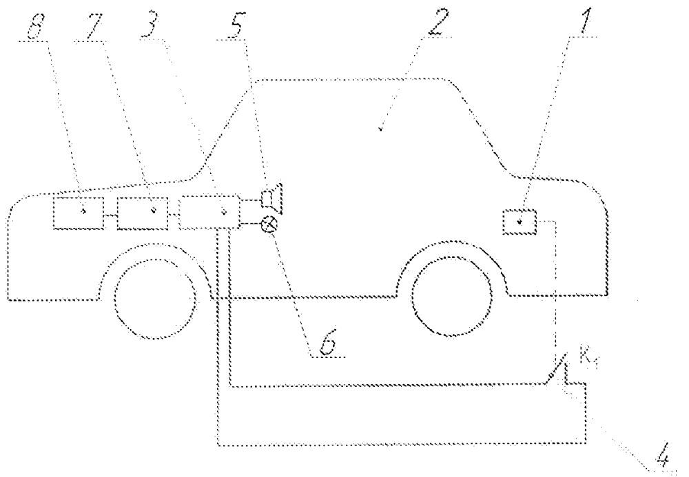 Сигнально-блокирующее устройство для автомобиля