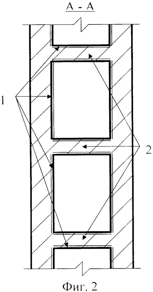Способ изготовления монолитных железобетонных колонн и пилонов с цилиндрическими пустотами и дисками жёсткости, с применением неизвлекаемых трубчатых картонно-полиэтиленовых пустотообразователей