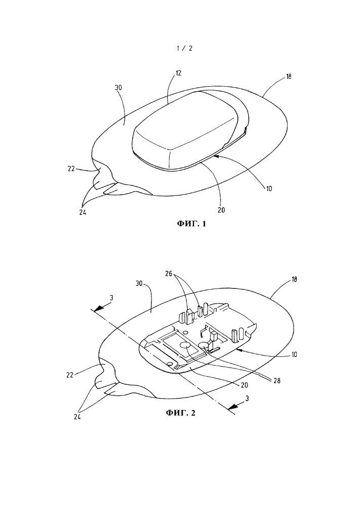 Несущая система для носимого на теле объекта и способ ее изготовления