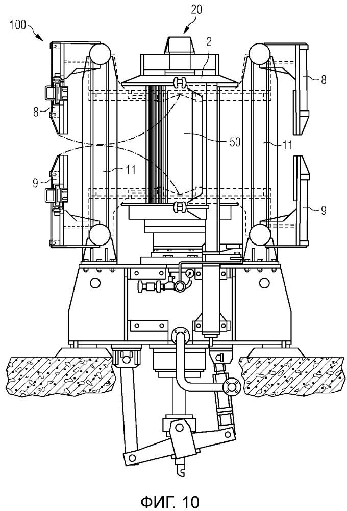 Намоточная машина для намотки нескольких рулонов прокатанного материала вокруг одного барабана
