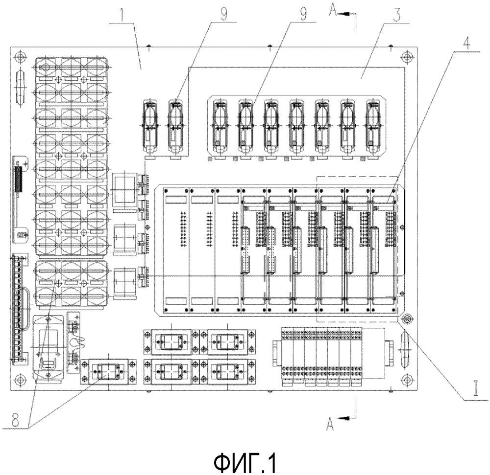 Панель реле управления для железнодорожного вагона