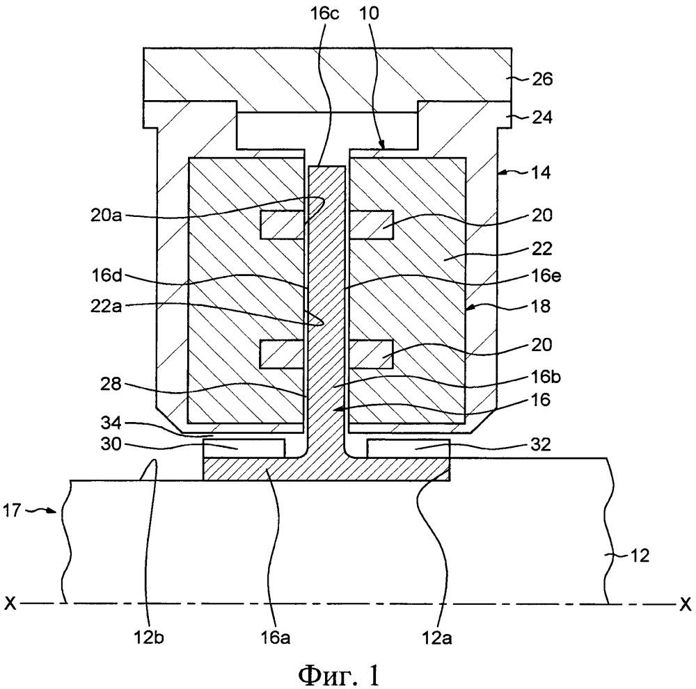 Магнитный подшипниковый узел для ротационной машины и турбомашина, содержащая такой узел