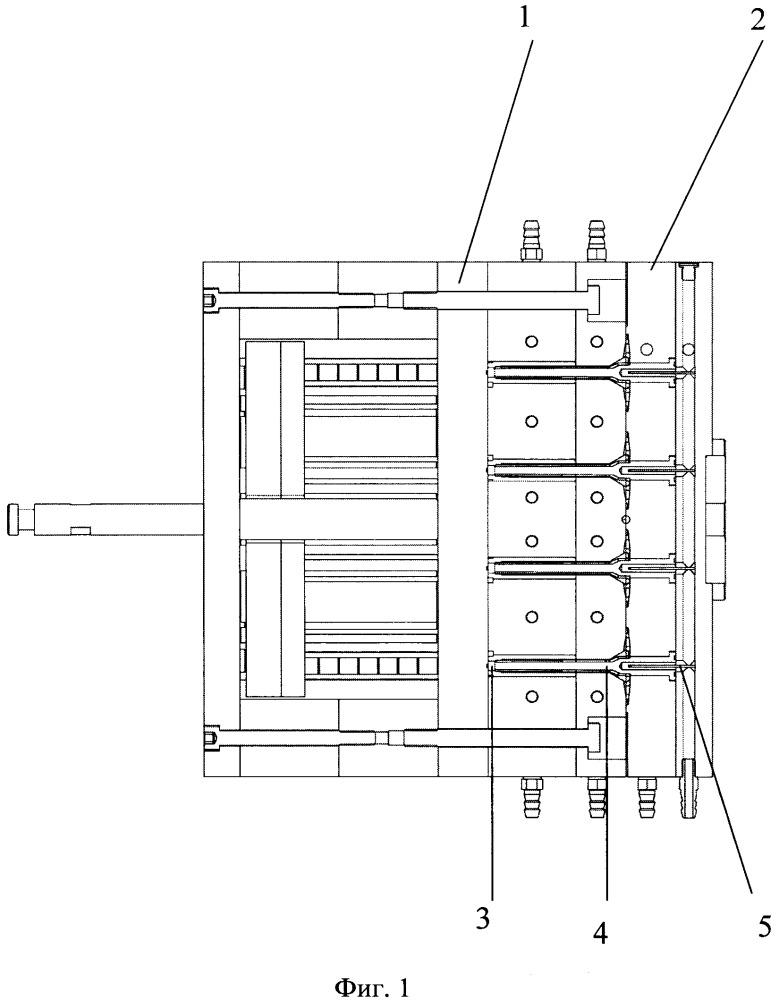 Пресс-форма для изготовления дюбелей из полимерного материала