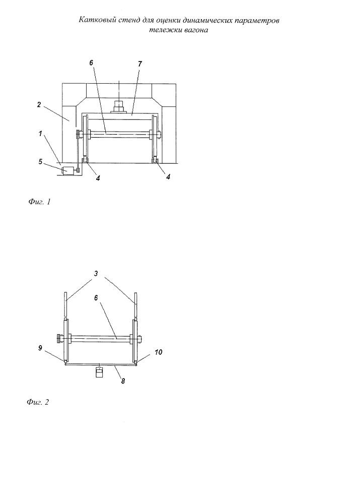 Катковый стенд для оценки динамических параметров тележки вагона