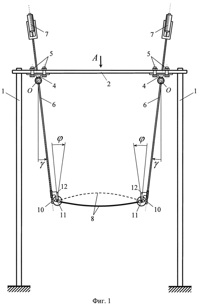 Установка для определения механических свойств гибких стержневых элементов