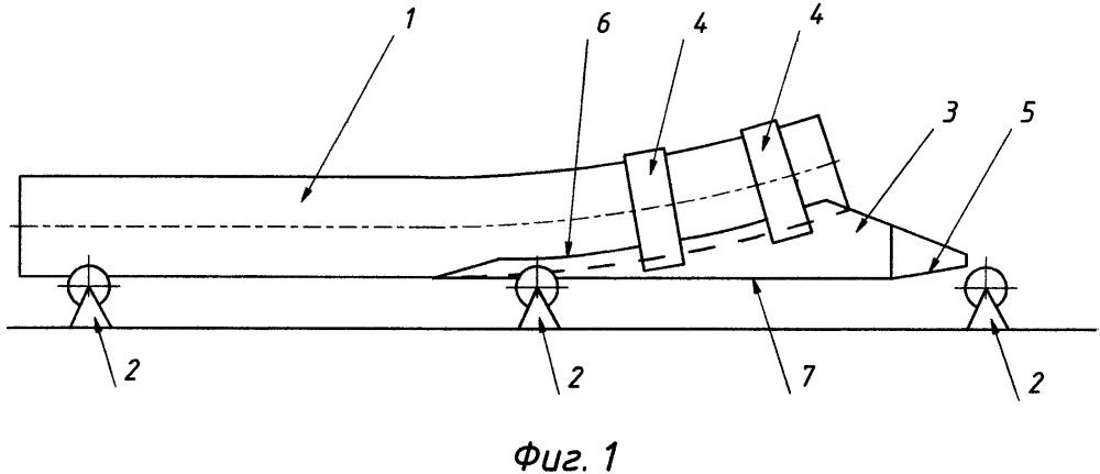 Устройство для перемещения криволинейных труб на опорах