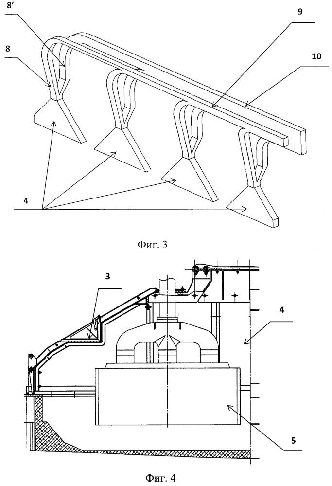 Устройство для сбора и удаления газов в алюминиевом электролизере