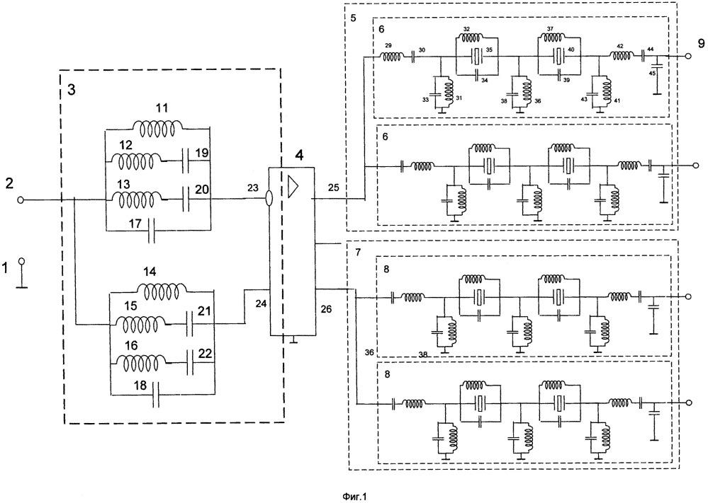 М-канальное частотно-селективное устройство