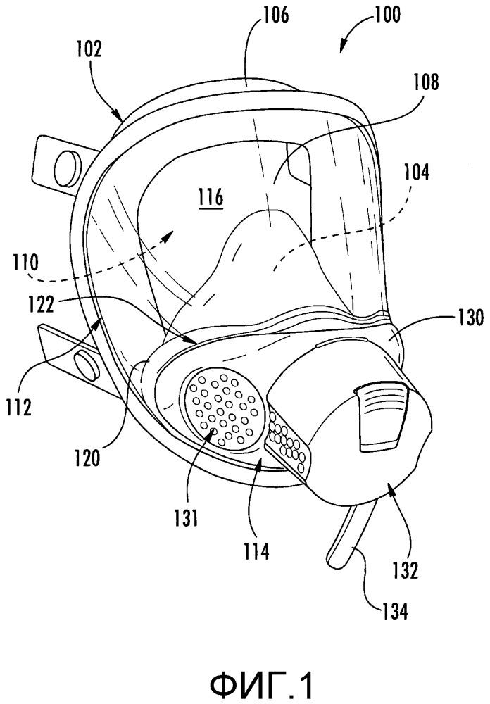 Полнолицевая маска с перестраиваемой структурой, содержащая картридж-модуль для защиты органов дыхания