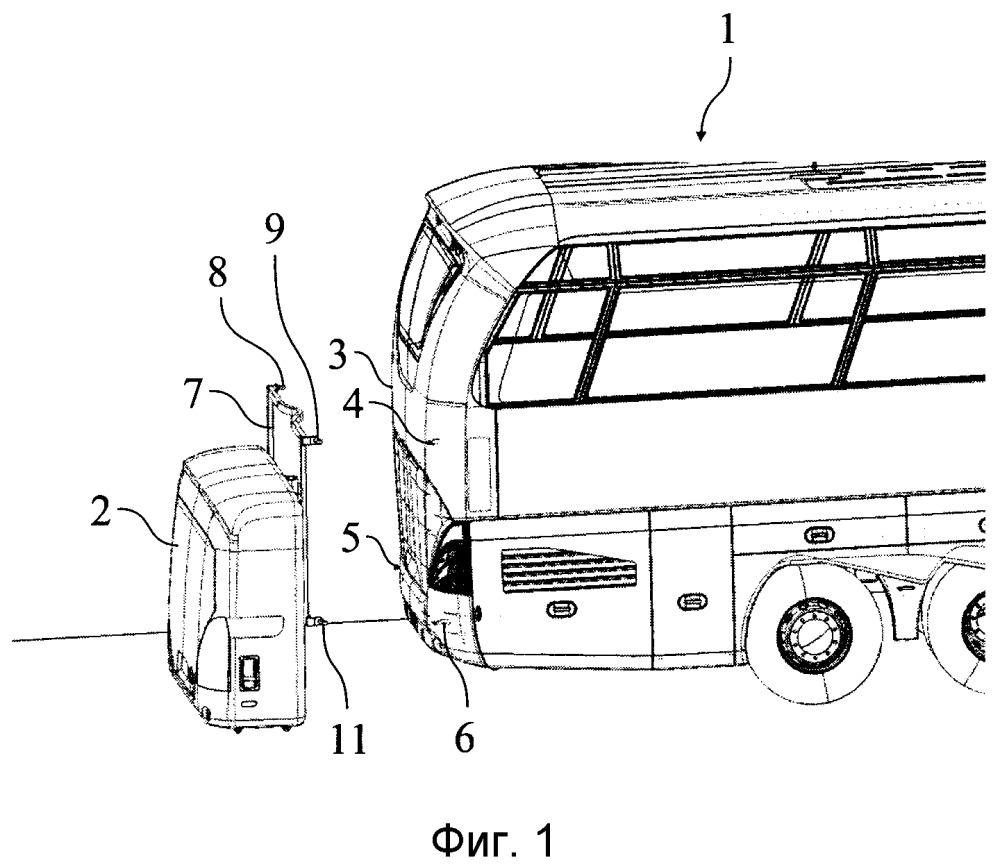 Наружный багажник транспортного средства и соответствующий способ