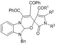 10-бензил-3,4-дибензоил-2´-оксо-1´,2´,10,10a-тетрагидроспиро[бензо[4,5]имидазо[2,1-b][1,3]оксазин-2,3´-пирролы]