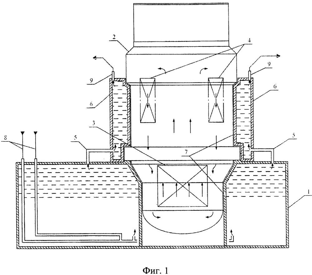 Бак металловодной защиты для охлаждения кессона