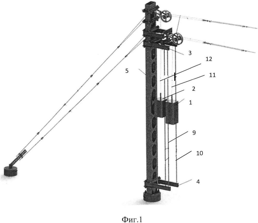 Устройство компенсации температурных удлинений проводов контактной подвески железной дороги