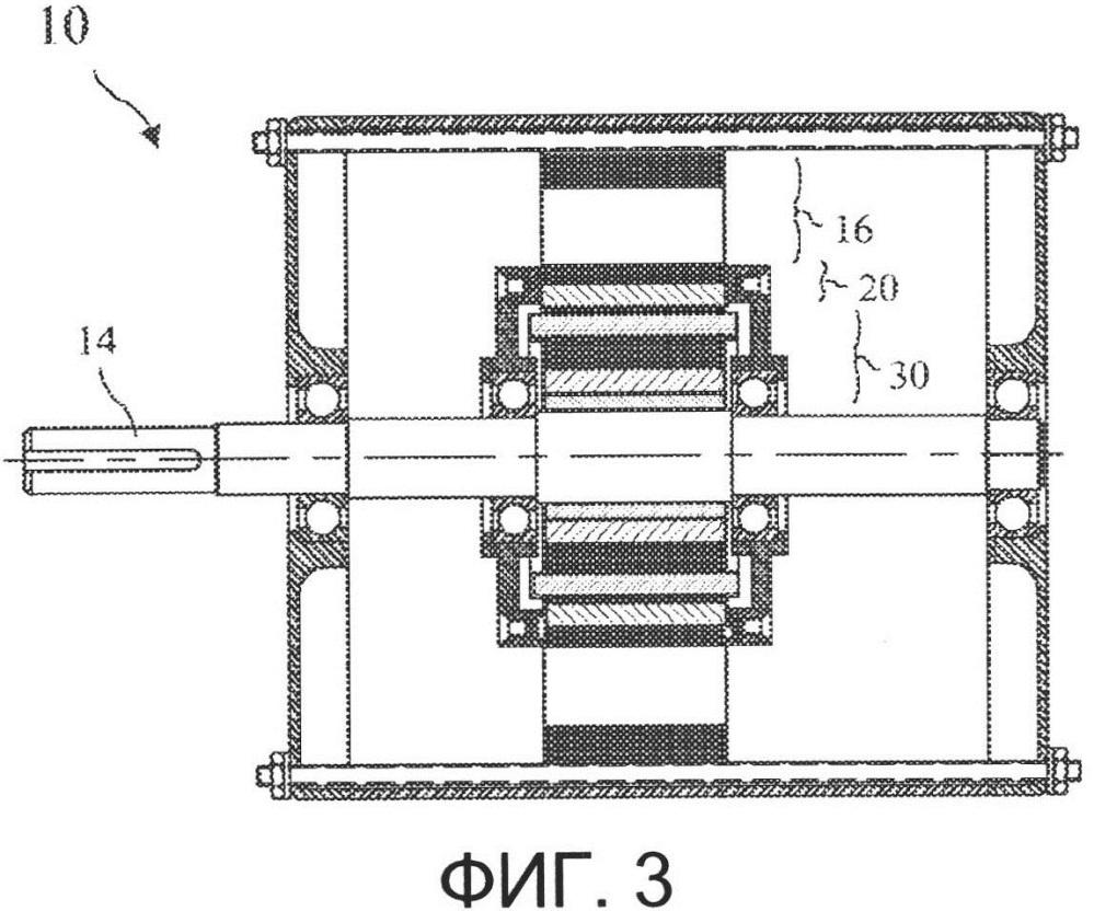 Гибридный электрический двигатель с самовыравнивающимся ротором с постоянными магнитами и короткозамкнутым ротором