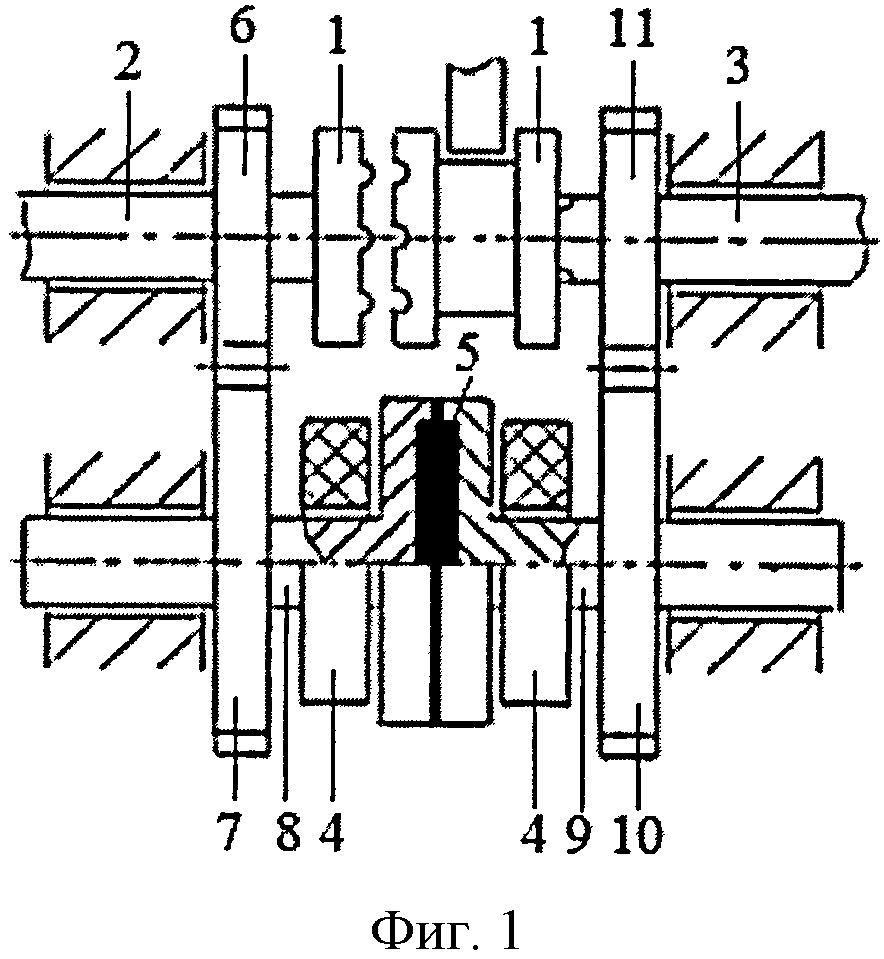Способ согласования угловых скоростей ведомого вала с ведущим валом магнитно-жидкостной муфтой в коробке переключения передач