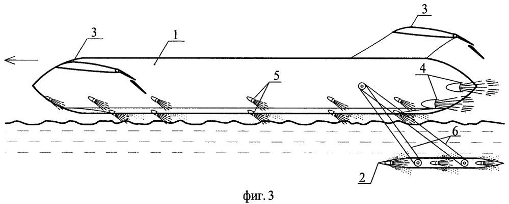Высокоскоростное судно для передвижения по поверхности воды, над поверхностью воды и под водой