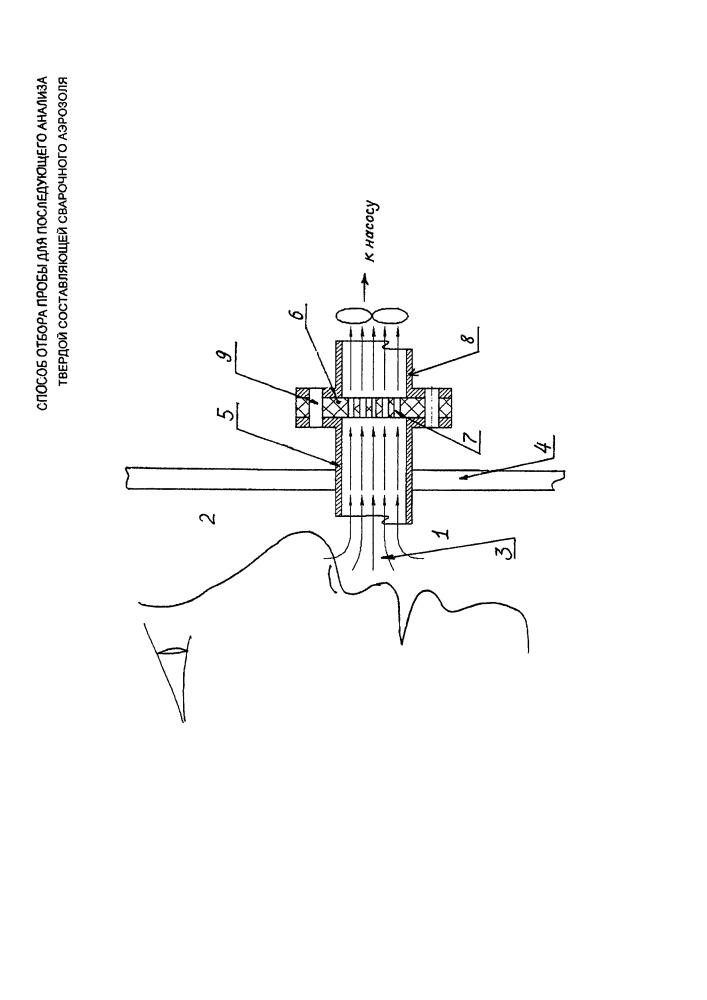 Способ отбора пробы для последующего анализа твердой составляющей сварочного аэрозоля