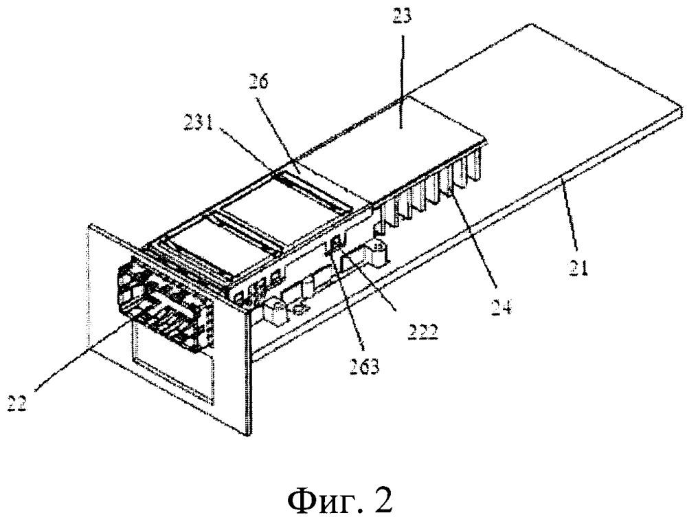 Устройство рассеяния тепла для оптического модуля и устройство связи, применяющее устройство рассеяния тепла