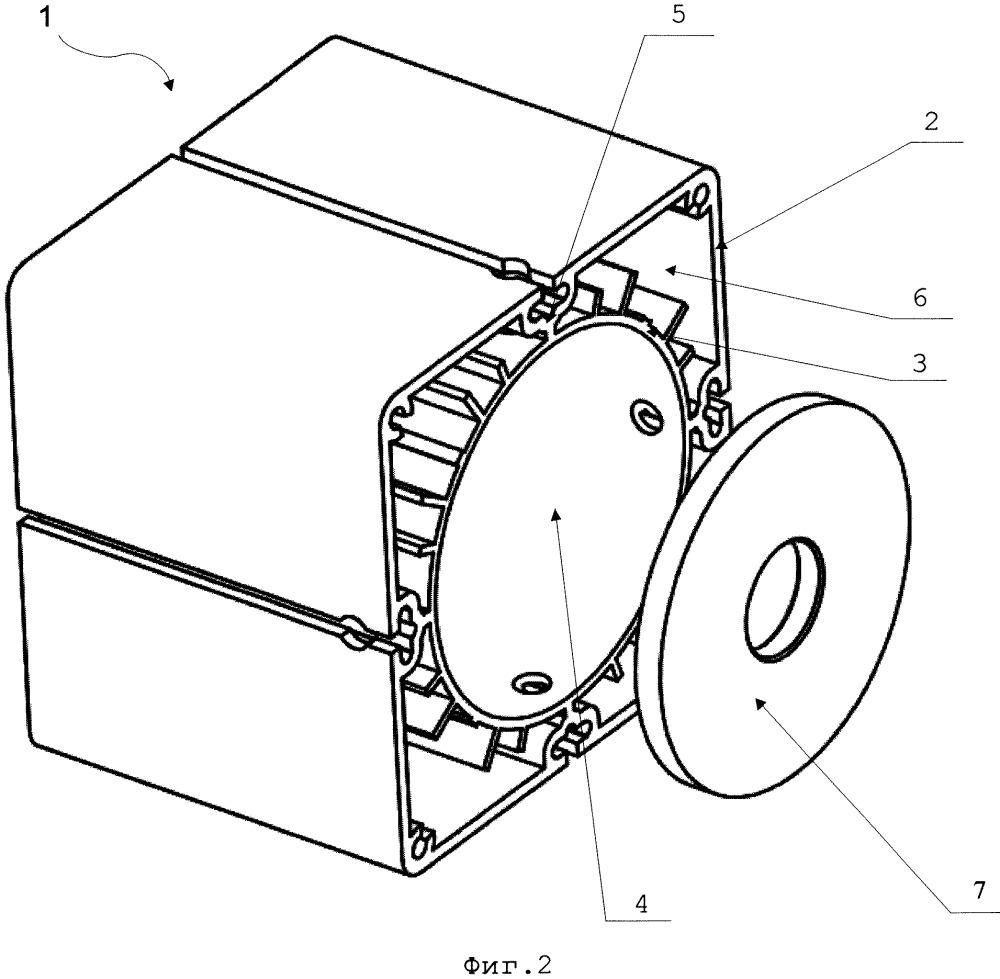 Модуль светодиодного прожектора общего назначения и многомодульный светодиодный прожектор