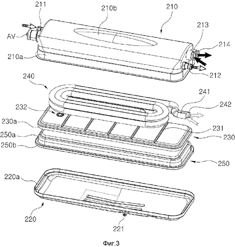 Теплообменник с интегрированным расширительным баком и включающий их в себя бойлер
