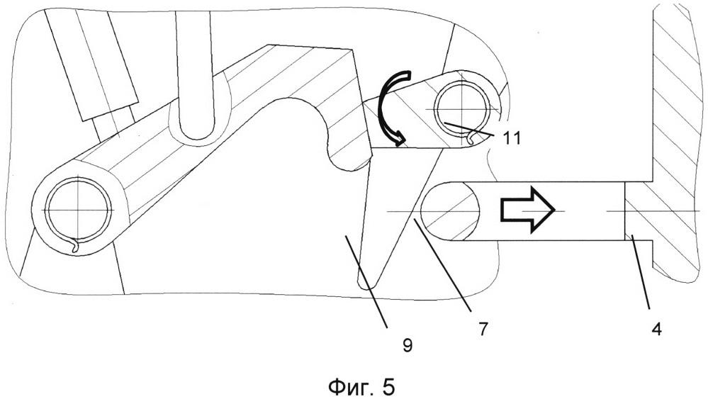 Замок реверсивного устройства газотурбинного двигателя