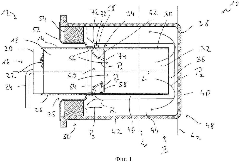 Конструктивный узел камеры сгорания для приводимого в действие посредством горючего материала нагревательного прибора транспортного средства