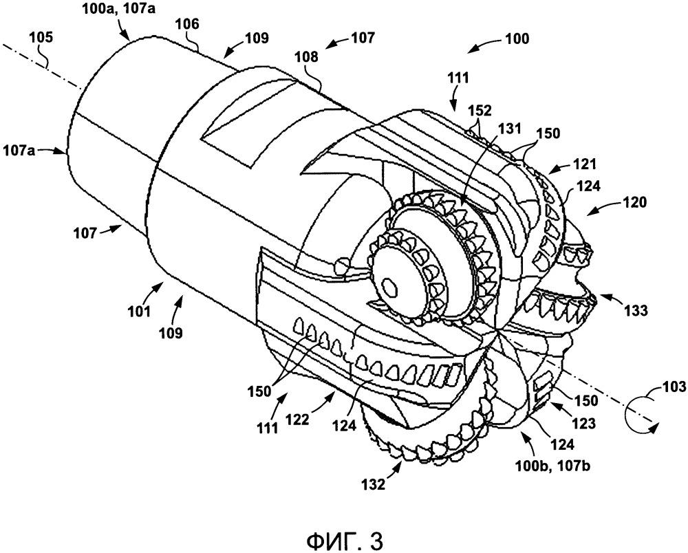 Буровые системы и гибридные буровые долота для бурения в подземной породе и способы, связанные с ними