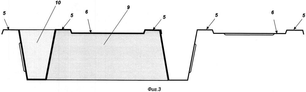 Опалубочный элемент сталежелезобетонных перекрытий