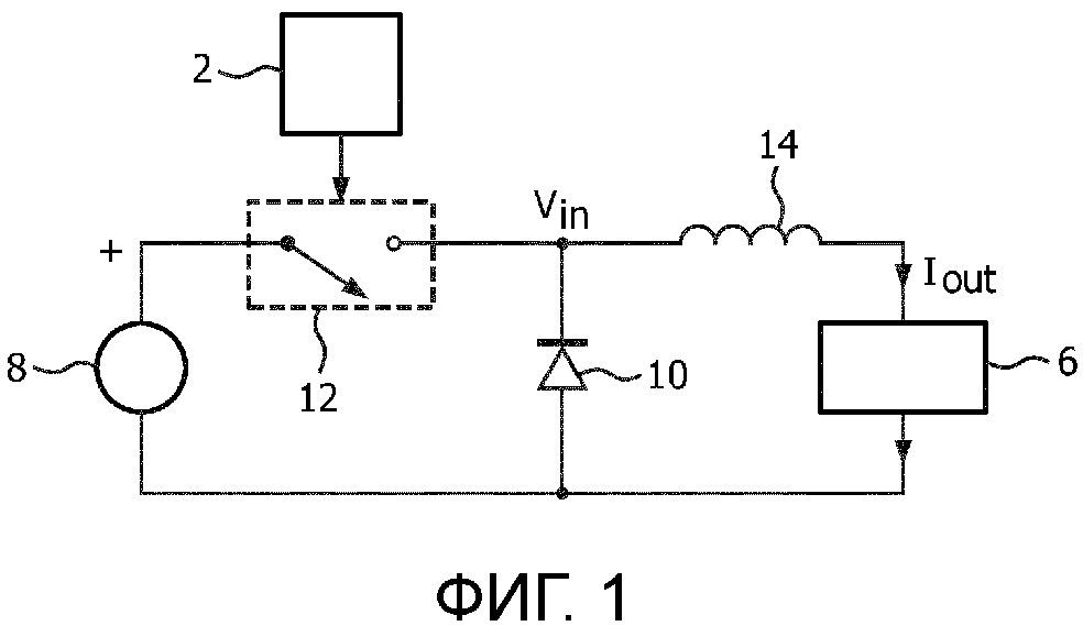 Электрическая цепь и способ управления широтно-импульсной модуляцией источника тока для нагрузки