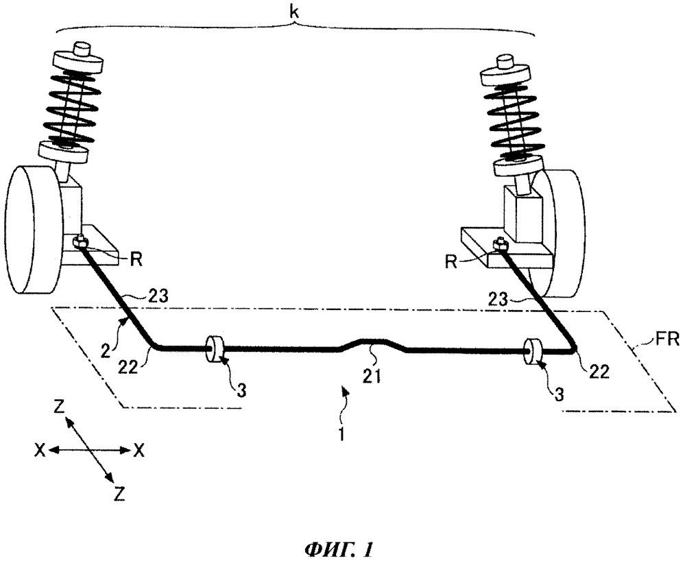 Способ изготовления снабженного резиновой втулкой стабилизирующего стержня и снабженный резиновой втулкой стабилизирующий стержень