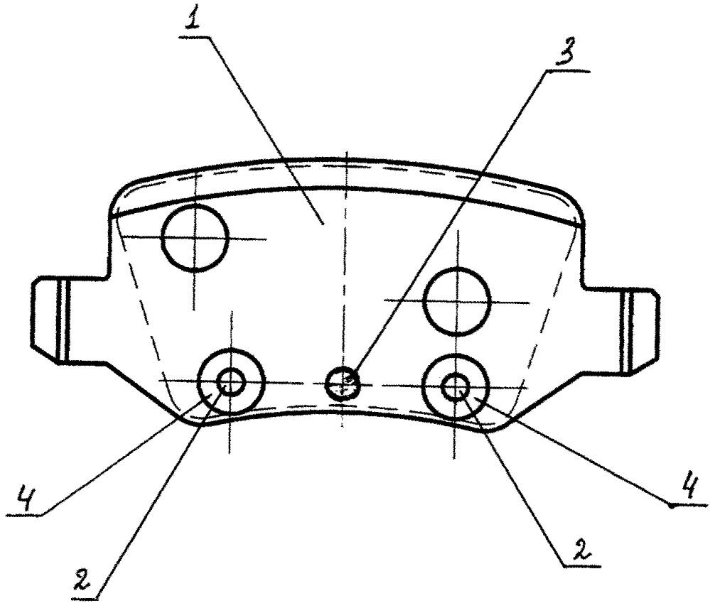 Колодка дискового тормоза
