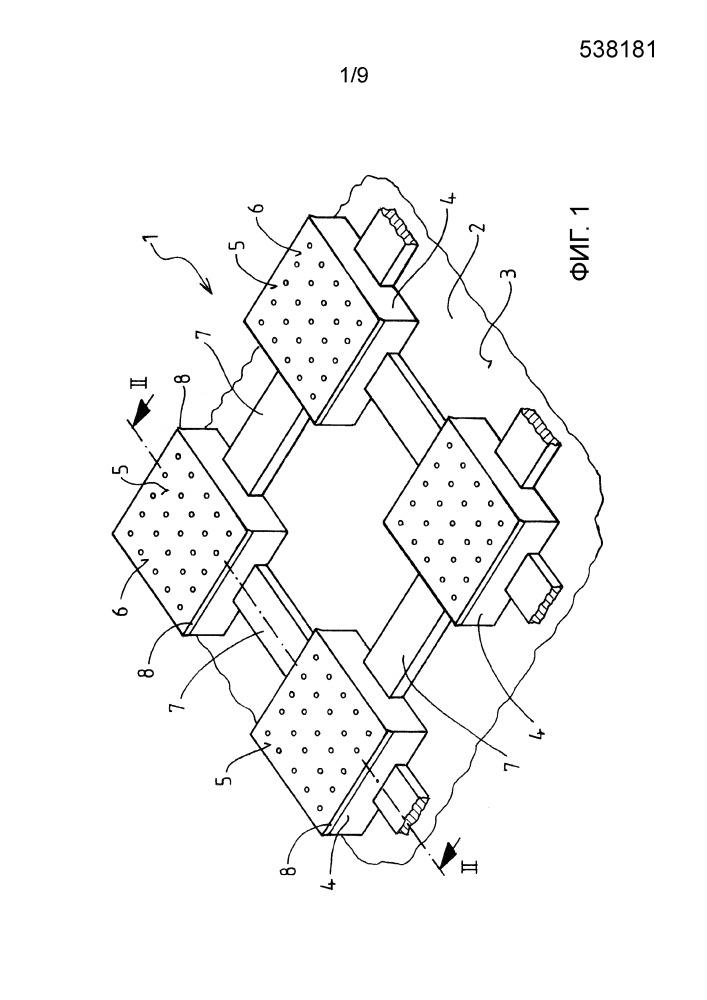 Развязывающий мат для покрываемой отделочными элементами плоской подлежащей покрытию конструкции