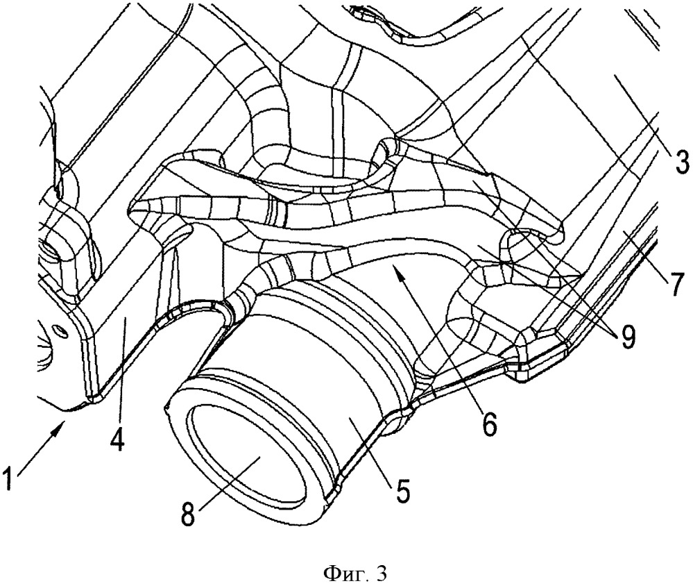 Суппорт дискового тормозного механизма, выполненный из литейного чугуна