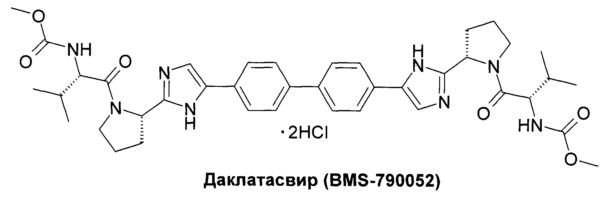 Пан-геномные ингибиторы белка ns5a вируса гепатита с, фармацевтические композиции, промежуточные продукты для синтеза ингибиторов и способы их получения и применения