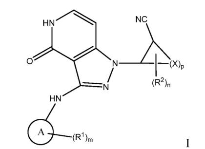 N-(2-цианогетероциклил)пиразолопиридоны в качестве ингибиторов янус-киназы