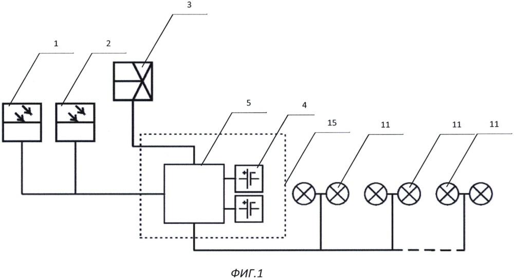 Устройство автономного энергоснабжения с модулем светового ограждения